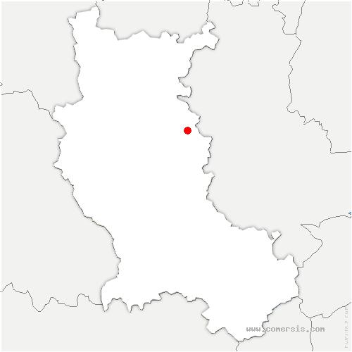 carte de localisation de Saint-Cyr-de-Valorges