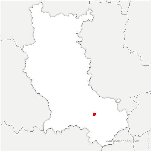 carte de localisation de Saint-Étienne