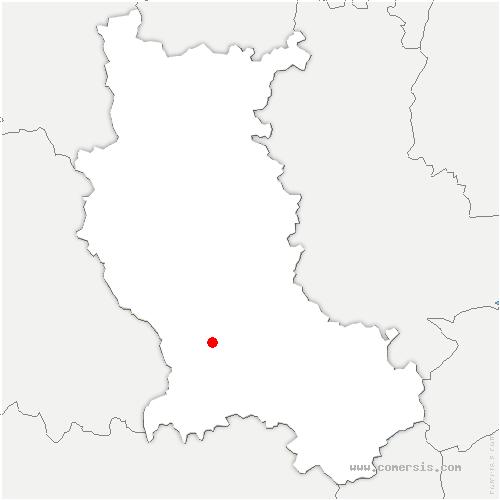 carte de localisation de Saint-Georges-Haute-Ville