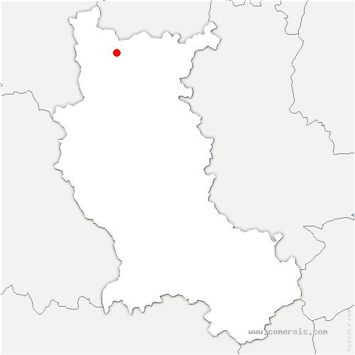 carte de localisation de Saint-Germain-Lespinasse