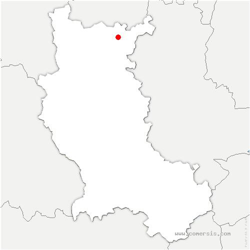carte de localisation de Saint-Hilaire-sous-Charlieu