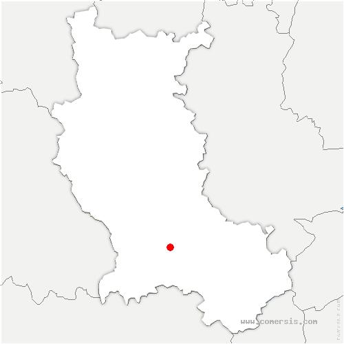 carte de localisation de Saint-Just-Saint-Rambert