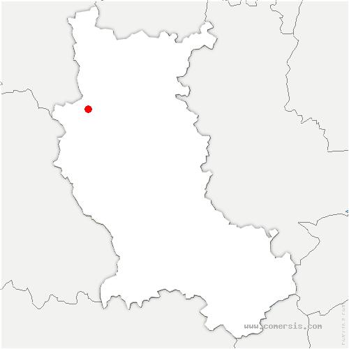 carte de localisation de Saint-Just-en-Chevalet