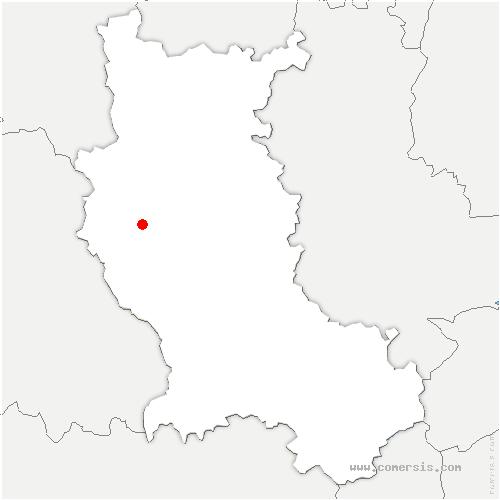 carte de localisation de Saint-Laurent-Rochefort