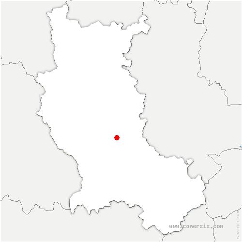 carte de localisation de Saint-Laurent-la-Conche