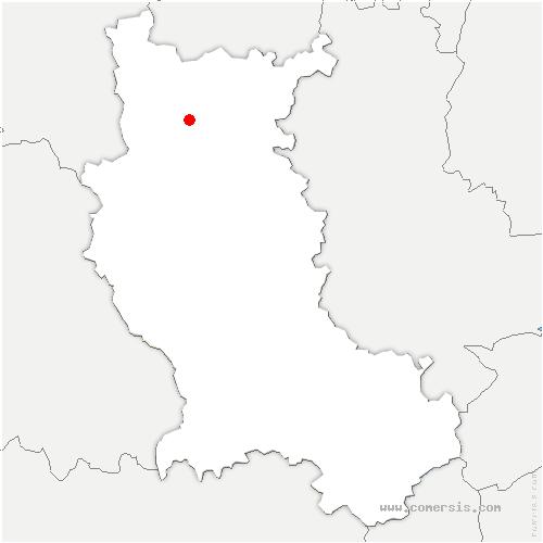 carte de localisation de Saint-Léger-sur-Roanne