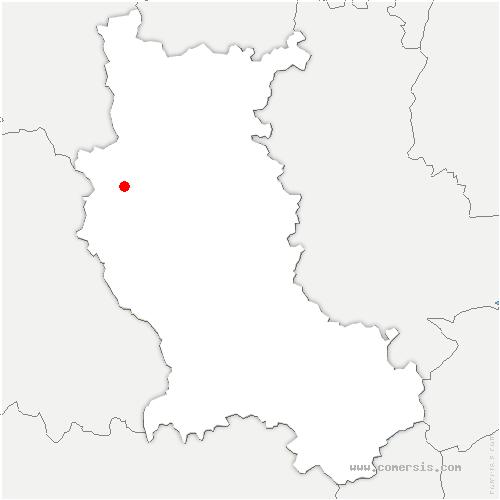 carte de localisation de Saint-Marcel-d'Urfé