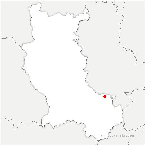 carte de localisation de Saint-Martin-la-Plaine