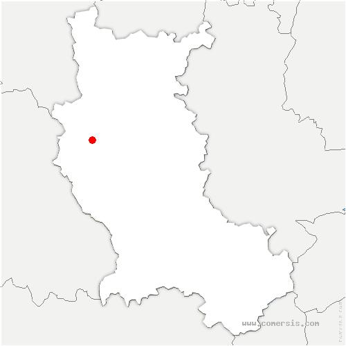 carte de localisation de Saint-Martin-la-Sauveté