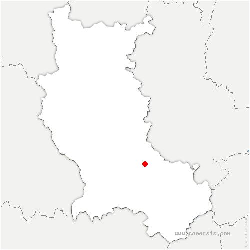 carte de localisation de Saint-Médard-en-Forez