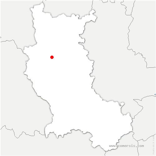 carte de localisation de Saint-Polgues