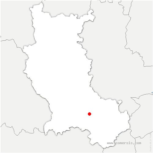 carte de localisation de Saint-Priest-en-Jarez