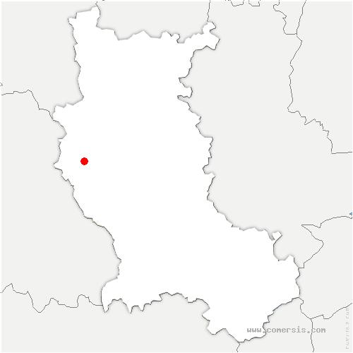 carte de localisation de Saint-Priest-la-Vêtre