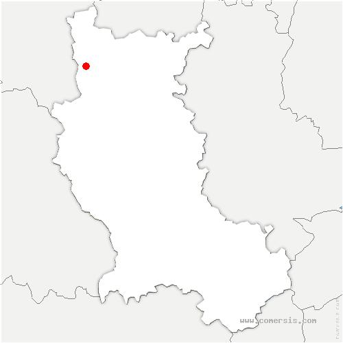 carte de localisation de Saint-Rirand