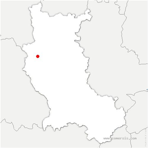 carte de localisation de Saint-Romain-d'Urfé