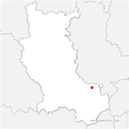 carte de localisation de Saint-Romain-en-Jarez