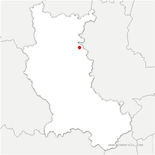 carte de localisation de Saint-Symphorien-de-Lay