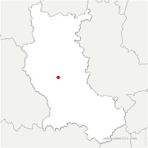 carte de localisation de Sainte-Agathe-la-Bouteresse