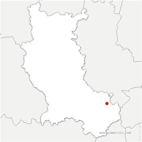 carte de localisation de Sainte-Croix-en-Jarez