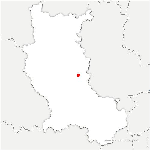 carte de localisation de Salt-en-Donzy