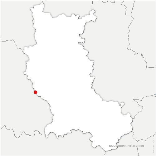 carte de localisation de Sauvain