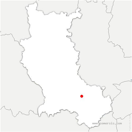 carte de localisation de Sorbiers