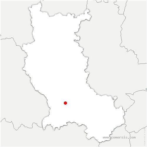 carte de localisation de Sury-le-Comtal