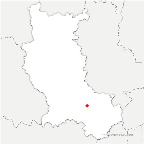 carte de localisation de Tour-en-Jarez
