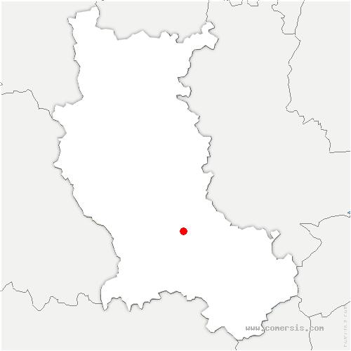carte de localisation de Veauche