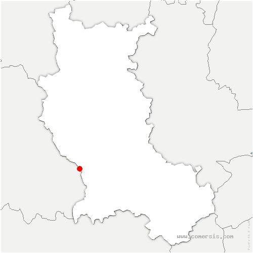 carte de localisation de Verrières-en-Forez