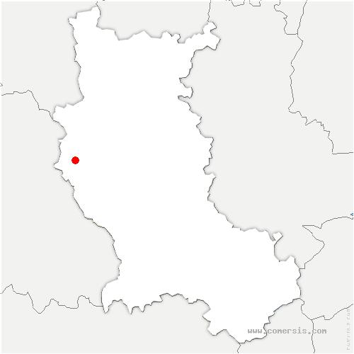 carte de localisation de Vêtre-sur-Anzon