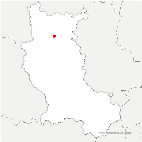 carte de localisation de Villerest