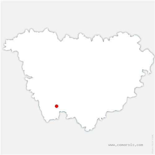carte de localisation de Esplantas-Vazeilles