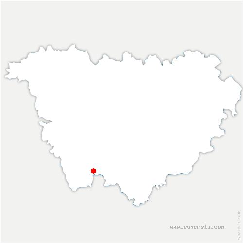 carte de localisation de Thoras