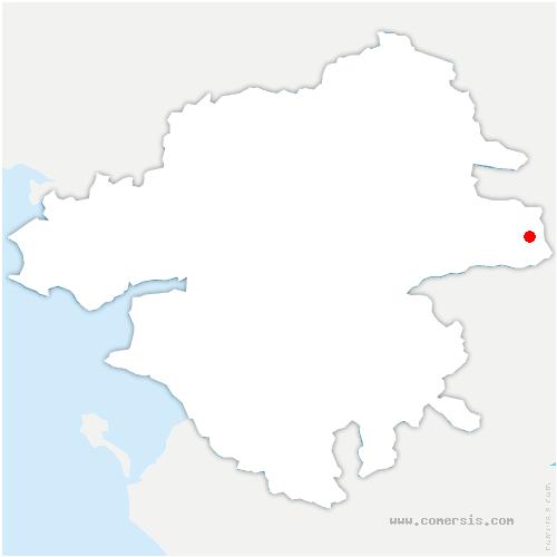 carte de localisation de Loireauxence