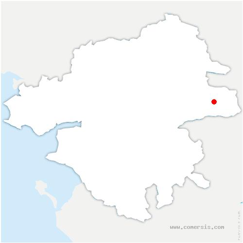 carte de localisation de Roche-Blanche