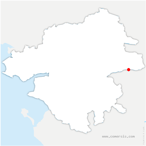 carte de localisation de Vair-sur-Loire