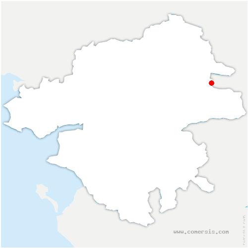 carte de localisation de Vallons-de-l'Erdre