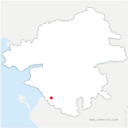carte de localisation de Villeneuve-en-Retz