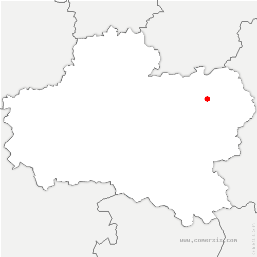 carte de localisation d'Amilly