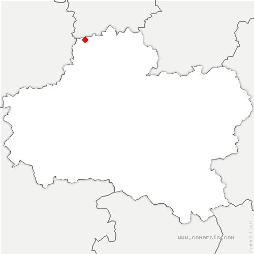 carte de localisation de Andonville