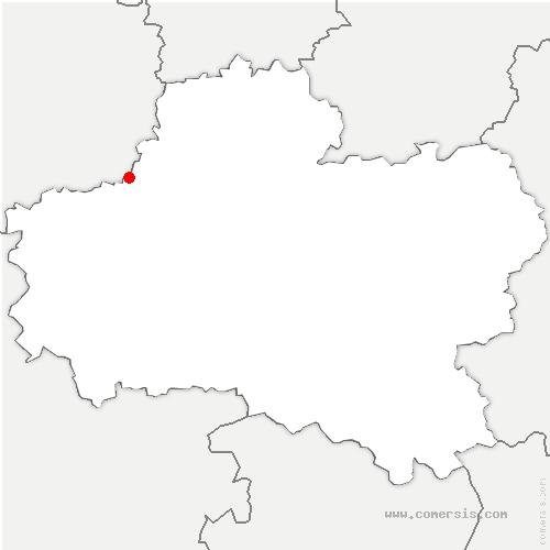 carte de localisation de Artenay