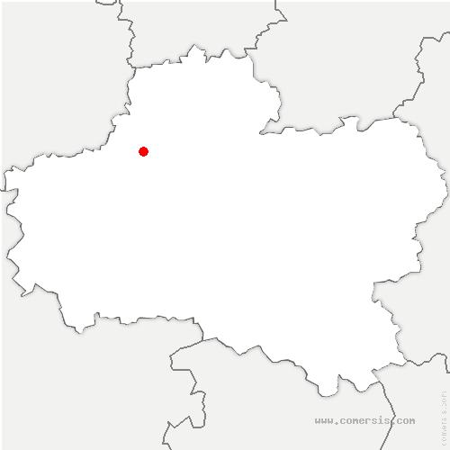 carte de localisation de Aschères-le-Marché
