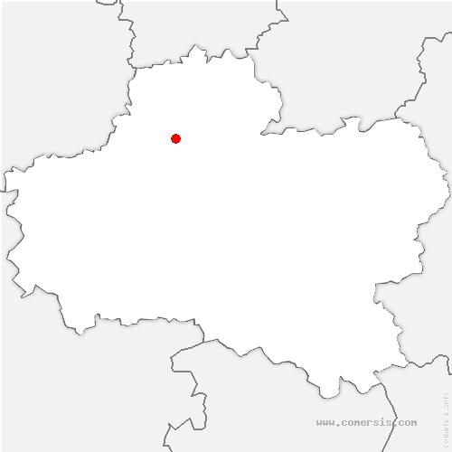 carte de localisation de Attray