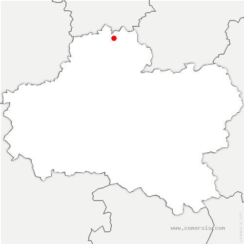 carte de localisation de Audeville