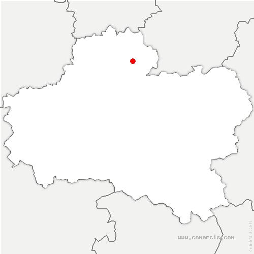 carte de localisation de Aulnay-la-Rivière