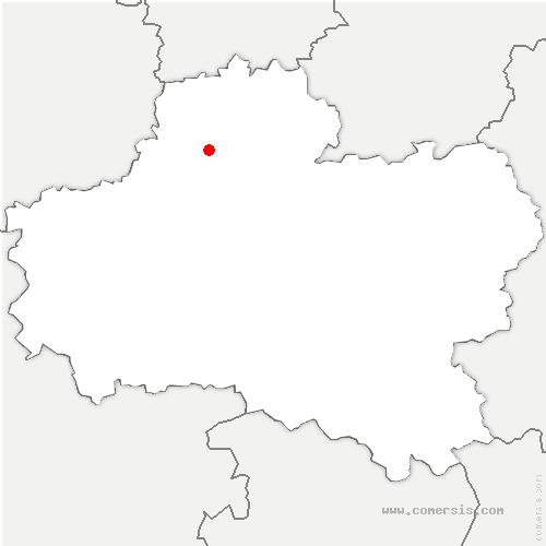 carte de localisation de Bazoches-les-Gallerandes