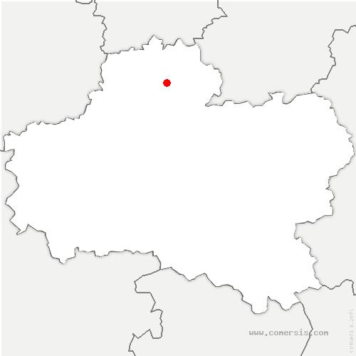 carte de localisation de Bondaroy