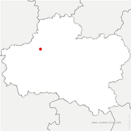 carte de localisation de Bougy-lez-Neuville