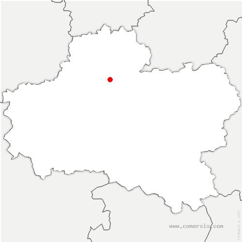 carte de localisation de Bouzonville-aux-Bois